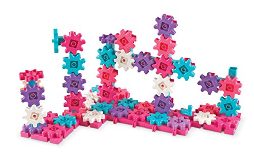 Learning Resources Gears! Gears! Gears! Deluxe Building Set, 100 Pieces, Pink
