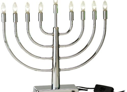 Rite-Lite Judaica Energy-Saving Super Brite LED Low Voltage Steel Menorah