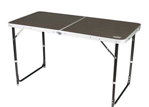 Timber Ridge Adjustable Height Portable Lightweight Folding Utility Outdoor Camping Table