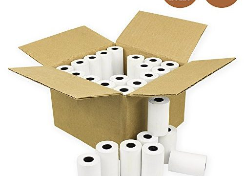 E-Tech 2 1/4″ X 50′ Thermal Credit Card Paper 50 Rolls/Box for Verifone, Omni, Hypercom and First Data