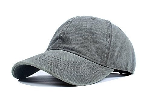 a3c3ee3a Vankerful Unisex Vintage Washed Dyed Cotton Twill Low Profile Adjustable  Solid Colour Baseball Cap Strapback Army