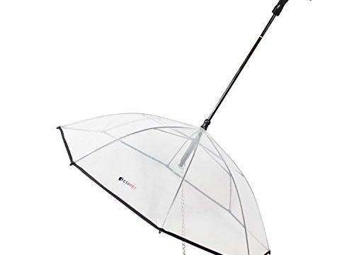 Dog Umbrella, Transparent Pet Umbrella with Leash Assembly – Fits 20″ Pet's Back Length