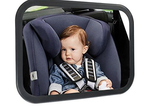 ELUTO Baby Mirror For Car Baby Rear Facing Mirrors Infant Back Seat Mirror Baby Shatterproof Glass Mirror Adjustable, Convex Mirror