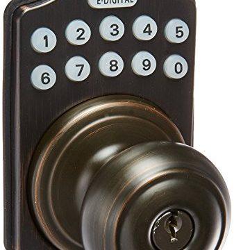 Lockey USA E930ABZ  Electronic Knob Latch, Zinc/Steel