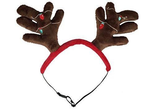 Outward Hound 11001 Christmas Holiday Antler Headband, Medium