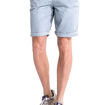 INFLATION Men's Beach Shorts for Mens Comfy Cargo Shorts Flat Front Shorts Size 28 Light Gray