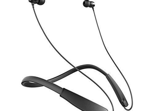Anker SoundBuds Lite Bluetooth Headphones, Wireless Lightweight Neckband Headset, IPX5 Water Resistant Sport Earbuds with CVC 6.0 Noise Cancelling and Built-in Mic Black