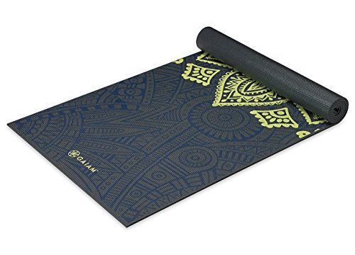 Gaiam Premium Print Yoga Mat Sundial Layers 5 6mm Zeetreby