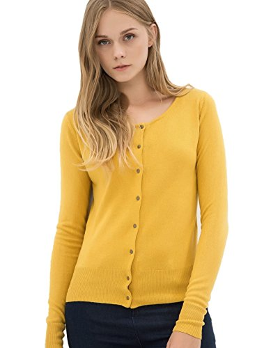 c9d0f2f504 Breeze Womens Sweater- Casual Round Neck Button Front Long Sleeve Soft Knit  Cardigan For Women