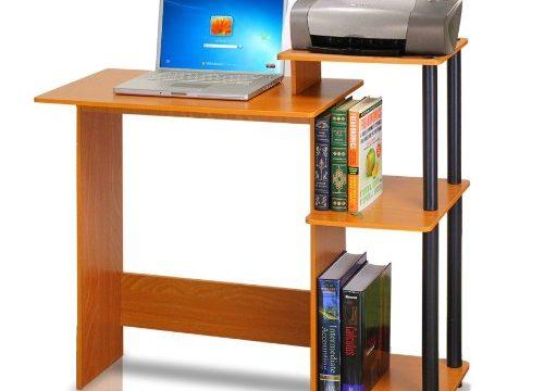 Furinno 11192lc Bk Efficient Computer Desk Light Cherry