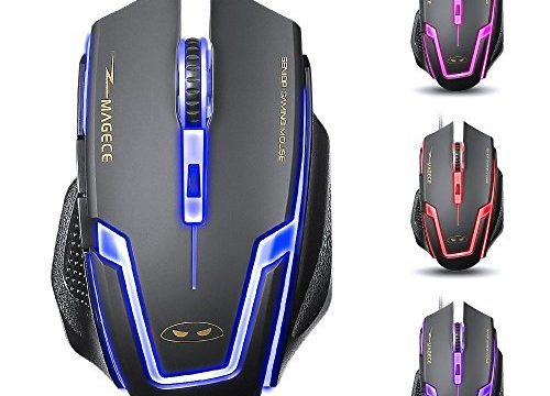 Yanni G1 Wired USB PC Computer Gaming Mouse Mice, Optical, 6 Buttons, 3200 DPI, Multi-colorful Leds For PC Mac LumixBlack