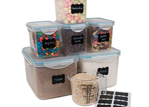 leakproof airtight large food storage containers ideal for sugar flour baking supplies. Black Bedroom Furniture Sets. Home Design Ideas