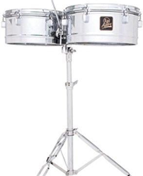 Latin Percussion LPA256 Aspire Series 13″ & 14″ Timbale Set with Cowbell