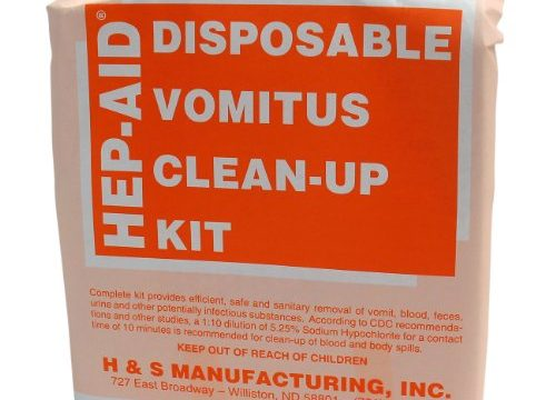 H&S Manufacturing 2575 Hep-Aid Disposable Vomitus Clean Up Kit