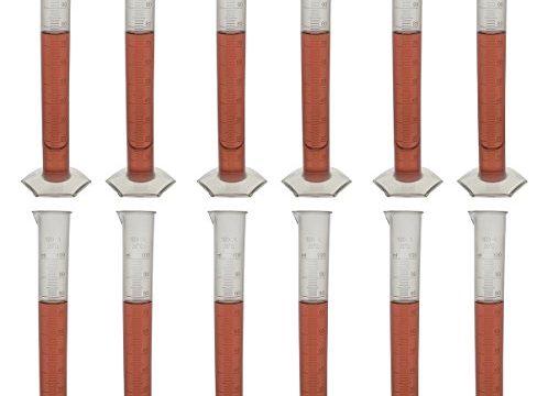 Polypropylene Graduated Cylinder, Octagonal Base, 100ml Pack of 12