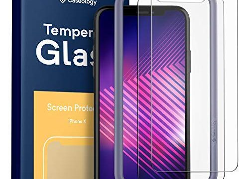 Caseology Screen Protector for iPhone Xs/iPhone X Tempered Glass 2018 – 2 Pack