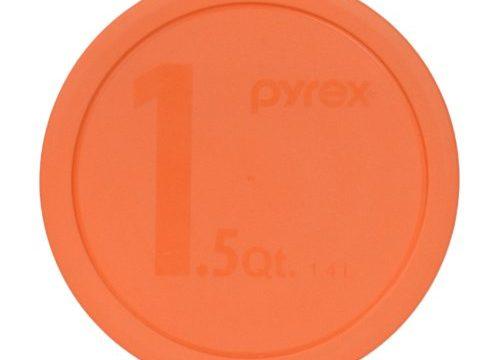 Pyrex 323-PC 1.5qt Round Orange Storage Lid for Glass Bowl