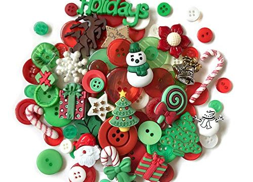 Buttons Galore 50-Value Pack Christmas Button