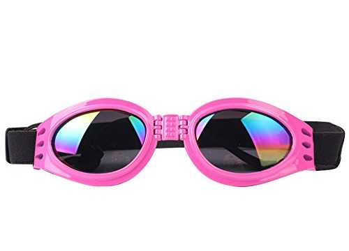 NACOCO Pet Glasses Dog Sunglasses Dog Glasses Golden Retriever Samoyed Sunglasses Goggles Big Dog Sunglasses Pink