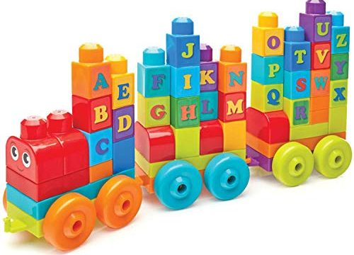 Mega Bloks ABC Learning Train Building Set