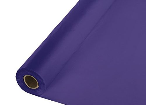 013016 – Creative Converting Roll Plastic Table Cover, 100-Feet, Purple
