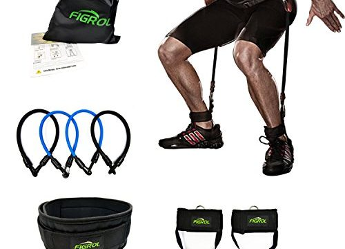 for Basketball Football Taekwondo Yoga Boxing Explosive Power Training – FIGROL Vertical Bounce Trainer Leg Resistance Bands Set-Leg Strength Muscle Workout