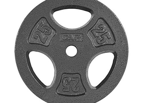 CAP Barbell Standard 1-Inch Grip Weight Plates, Single, Black, 25 Pound