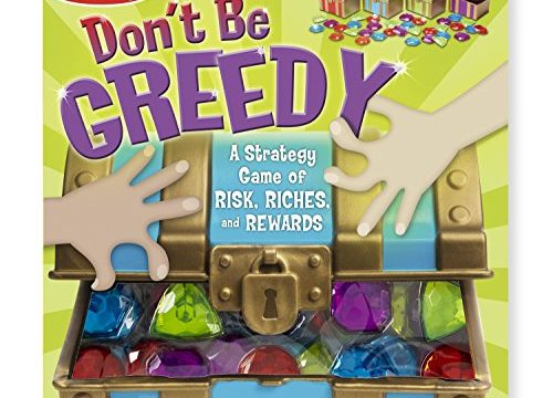 Melissa & Doug Don't Be Greedy Strategy Game – 4 Treasure Chests, 33 Jewels