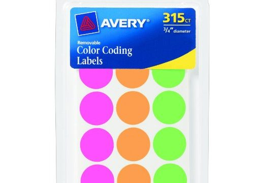 Avery Round Color Coding Labels, 0.75 Inch, Assorted, Removable,Pack of 315 6733
