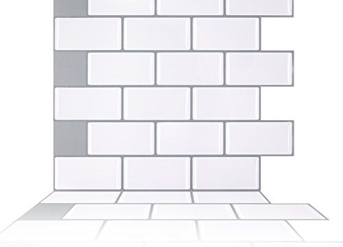 White Peel and Stick Subway Tile Backsplash-Subway Tile Backsplash Peel and Stick for Kithcen Bathroom5 Sheets