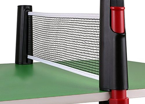 Hipiwe Retractable Table Tennis Net Replacement, Ping Pong Net and Post with PVC Storage Bag, 6 Feet1.8M, Fits Tables Up to 2.0 inch (5.0 cm) Black