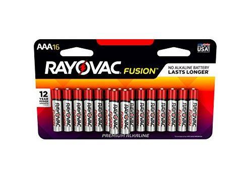 RAYOVAC AAA 16-Pack FUSION Premium Alkaline Batteries, 824-16LTFUSK