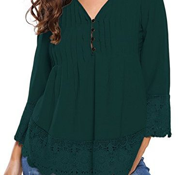 Happy Sailed Women Floral Print Turtleneck Long Sleeve Casual Blouse Tops S-2XL Medium, Green-25881
