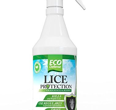 Safe Organic, Natural, and Non Toxic Ingredients – Eco Defense Lice Treatment For Home, Bedding, Belongings, and More – Works Fast to Kill & Repel Lice From Your Environment 16 oz