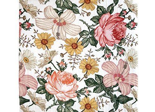 Mini Scout Soft Muslin Nursery Newborn Baby Girl Blanket Registry Essentials – Garden Floral Swaddle