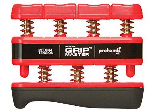 GRIP MASTER Gripmaster 14002-RED Hand Exerciser Red, Medium Tension 7-Pounds per Finger