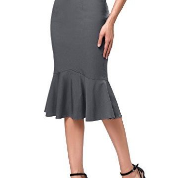 Kate Kasin Womens Wear to Work Stretchy Pencil Skirts