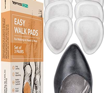 Mortons Neuroma Callus Metatarsal Foot Pain Relief Bunion Forefoot Cushioning – 3 Pairs 6 Pieces – Soft Gel Insole Metatarsal Pads Shoe Inserts – Ball of Foot Cushions for Women High Heel