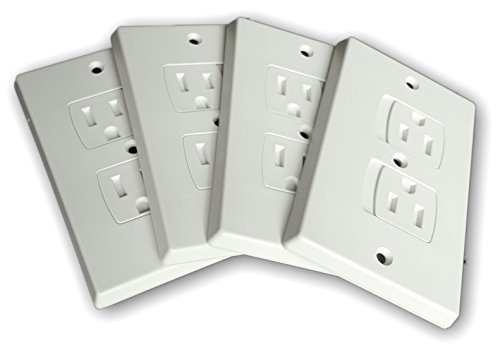 WONDERKID Self-Closing Electrical Outlet Covers for Baby Proofing – White – 4 Pack