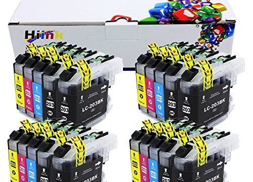 HIINK Comaptible Ink Replacement for Brother LC203XL LC203 LC201 use in MFC-J460DW MFC-J4420DW MFC-J460DW MFC-J4620DW J480DW J485DW J5520DW J5620DW J5720DW J680DW J880DW J885DWBK, C, M, Y, 20-Pack