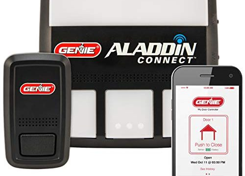 Genie ALKT1-R garage-door-remote-controls – Monitor, Open & Close Anywhere Using Your iPhone or Android Device, Black Logo Box