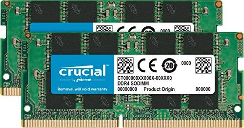 CT2K16G4SFD8213 – Crucial 32GB Kit 16GBx2 DDR4 2133 MT/s PC4-17000 DR x8 SODIMM 260-Pin Memory