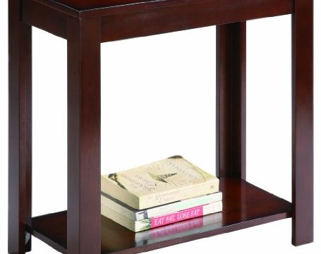 Crown Mark 7710 Pierce Chairside Table Espresso