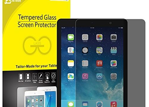 JETech Privacy Screen Protector for Apple iPad 9.7-inch, 2018/2017 Model, iPad Air 1, iPad Air 2, iPad Pro 9.7-Inch, Anti-Spy Tempered Glass Film