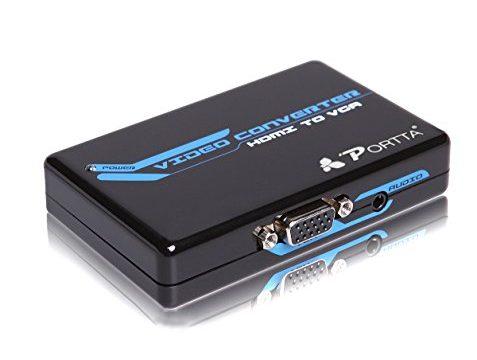 Portta HDMI to VGA + 3.5mm Audio Converter v1.3 support 1080p