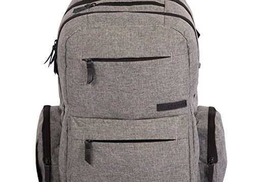 Multi-Function Organizer with Stroller Straps, Large Changing Pad and Insulated Pockets, Grey – Baby Diaper Bag Backpack – Free Storage Bag Included
