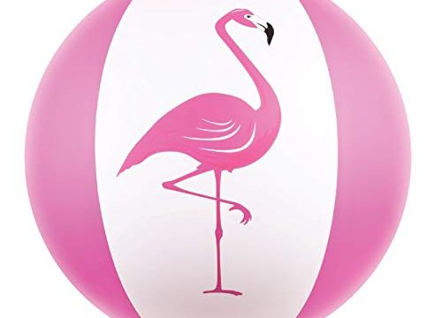 Kangaroo Beach Balls; 27″ Jumbo Pink Flamingo Beach Ball