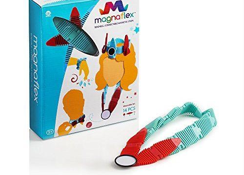 WowWee Magnaflex – Wearables Set 14 Pieces – Flexible Magnetic Construction Kit