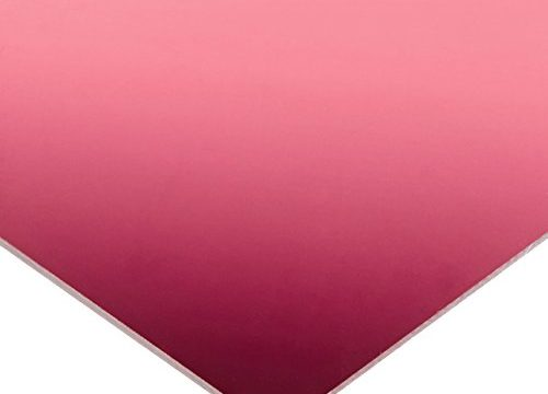 Optix Acrylic Mirror Sheet +/-0.187″ Tolerance 1/8″ Thickness 12″ Width x 12″ Length Pink