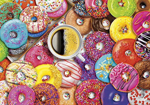 Aimee Stewart – Vivid Collection – Buffalo Games – Coffee and Donuts – 300 Large Piece Jigsaw Puzzle